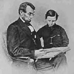 Lincoln with his son Tad