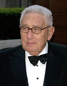 Elder statesmen and former secretary of state Henry Kissinger