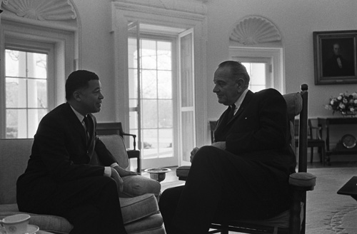 Edward Brooke and President LB Johnson in 1967