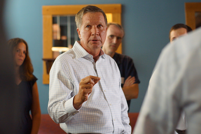"""Candidate Kasich Declares that Trump Has """"Toned Down the Rhetoric"""""""