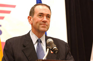 Mike Huckabee speaking at the second annual Steps to a HealthierUS Summit.