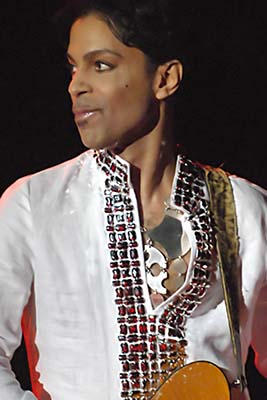 Prince at Coachella in 2008. Photo by Micahmedia