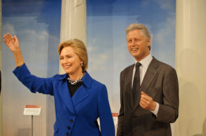 Bill and Hillary Clinton at Madame Tussaud's New York. Photo by  InSapphoWeTrust.