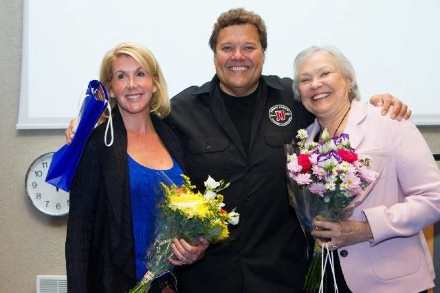 Leslie Liautaud with her husband Jimmy John Liautaud and mother-in-law Grazina Liautaud