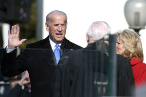 Vice President Joe Biden being sworn in as VP.