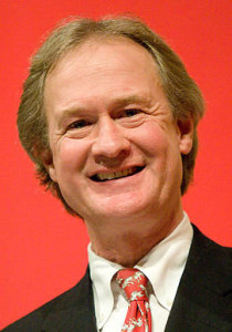 RI governor Lincoln Chafee makes an appearance at Brown University in 2007. Photo by Kenneth C. Zirkel