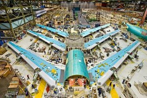 Boeing 747-8 Test Planes in Assembly. Photo by: Jeff McNeill