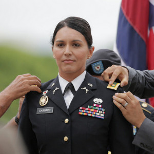 Rep. Gabbard at her promotion to Major.